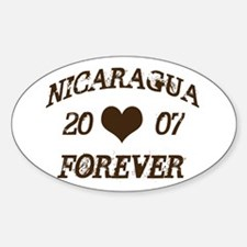 Nicaragua Forever Oval Decal