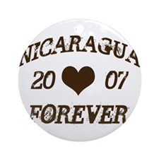 Nicaragua Forever Ornament (Round)