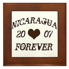 Nicaragua Forever Framed Tile