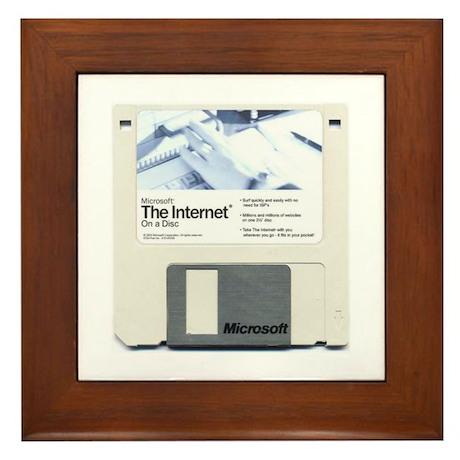 Internet on a disk Framed Tile