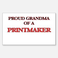 Proud Grandma of a Printmaker Decal