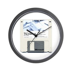 Internet on a disk Wall Clock