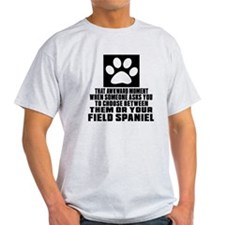 Field Spaniel Awkward Dog Designs T-Shirt