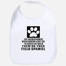 Field Spaniel Awkward Dog Designs Bib