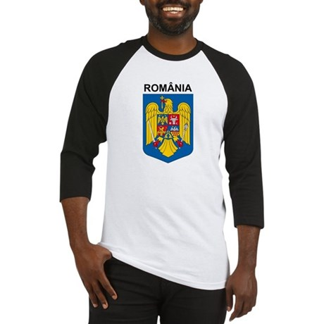 Romania arms with name Baseball Jersey