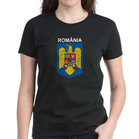 Romania arms with name Women's Dark T-Shirt