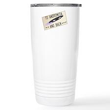 Tilted Andromeda License Plate Travel Mug
