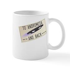 Tilted Andromeda License Plate Mugs