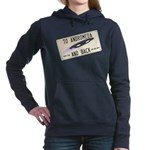 Tilted Andromeda License Plate Women's Hooded Swea