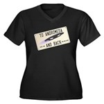 Tilted Andromeda License Plate Plus Size T-Shirt