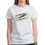 Tilted Andromeda License Plate T-Shirt