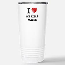 I Love My Alma Mater Travel Mug
