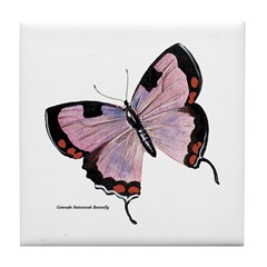 Colorado Hairstreak Butterfly Tile Coaster