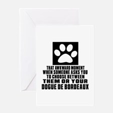 Dogue de Bordeaux Awkward Dog Design Greeting Card
