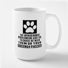 Doberman Pinscher Awkward Dog Designs Large Mug