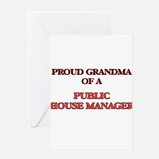 Proud Grandma of a Public House Man Greeting Cards