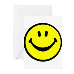 Happy Face Greeting Cards (Pk of 10)