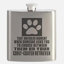 Curly-Coated Retriever Awkward Dog Designs Flask