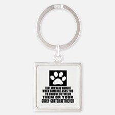 Curly-Coated Retriever Awkward Dog Square Keychain