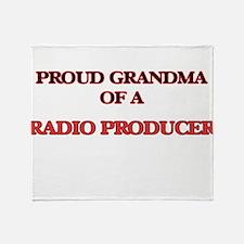 Proud Grandma of a Radio Producer Throw Blanket