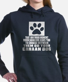 Canaan Dog Awkward Dog D Women's Hooded Sweatshirt