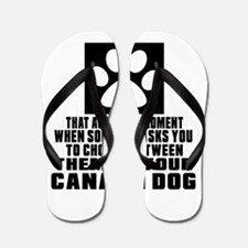 Canaan Dog Awkward Dog Designs Flip Flops