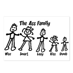Ass Family Postcards (Package of 8)