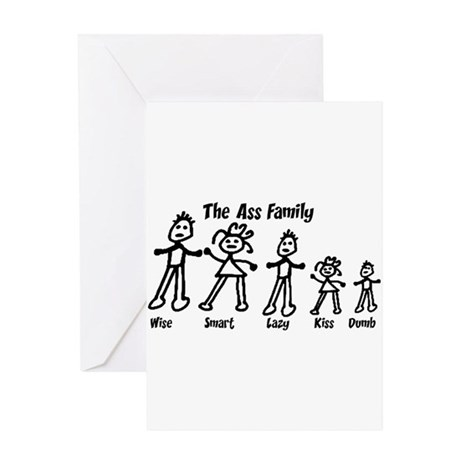 Ass Family Greeting Card