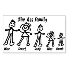 Ass Family Rectangle Decal