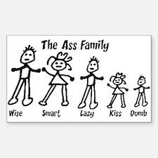 Ass Family Rectangle Decal