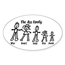 Ass Family Oval Decal