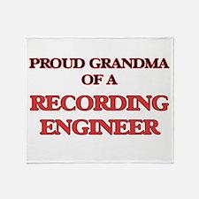 Proud Grandma of a Recording Enginee Throw Blanket
