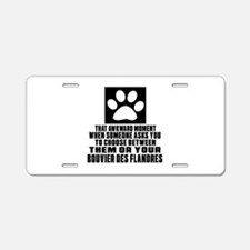 Bouvier Des Flandres Awkwar Aluminum License Plate