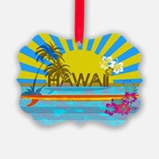 Hawaii Bright Colorful Colors Ornament