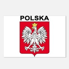 Poland arms with name Postcards (Package of 8)