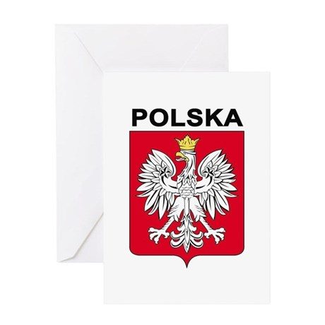 Poland arms with name Greeting Card