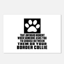 Border Collie Awkward Dog Postcards (Package of 8)
