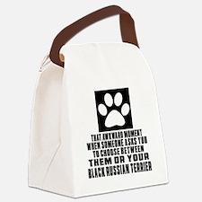 Black Russian Terrier Awkward Dog Canvas Lunch Bag