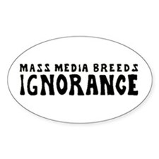 Ignorance Oval Decal