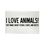 I Love Animals Rectangle Magnet (10 pack)
