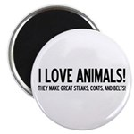 I Love Animals Magnet