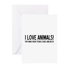 I Love Animals Greeting Cards (Pk of 10)