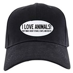 I Love Animals Black Cap