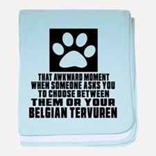 Belgian Tervuren Awkward Dog Designs baby blanket