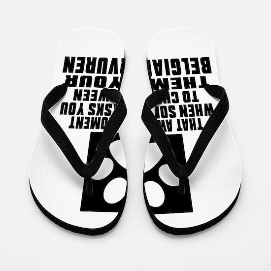 Belgian Tervuren Awkward Dog Designs Flip Flops