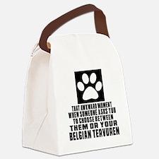Belgian Tervuren Awkward Dog Desi Canvas Lunch Bag