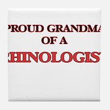 Proud Grandma of a Rhinologist Tile Coaster