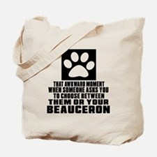 Beauceron Awkward Dog Designs Tote Bag