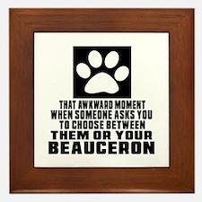 Beauceron Awkward Dog Designs Framed Tile