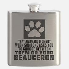 Beauceron Awkward Dog Designs Flask